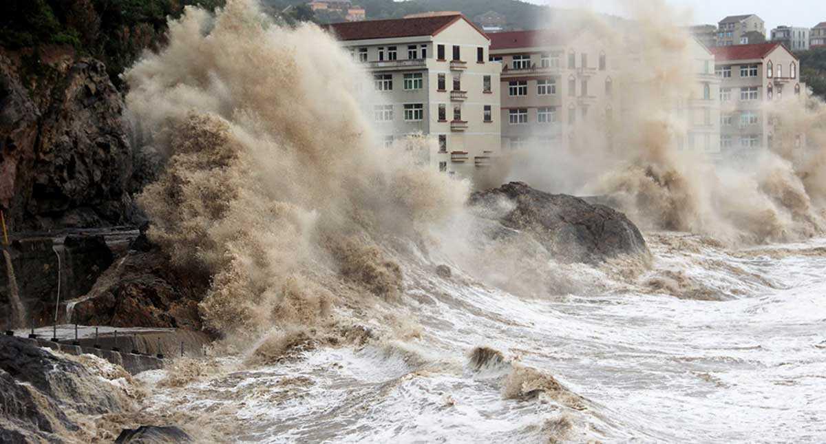 На Китай надвигается мощный тайфун