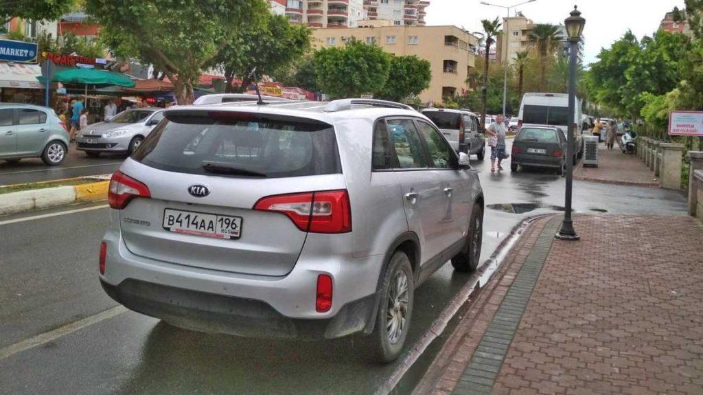 Авто с российскими номерами в Турции