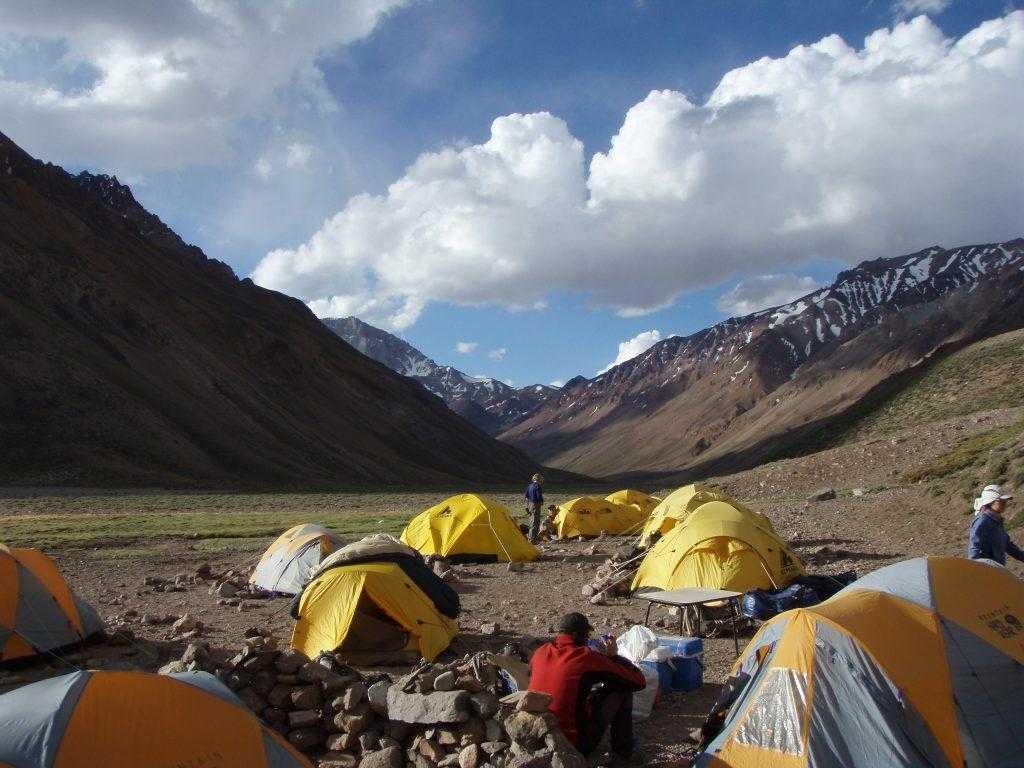 Лагерь на горе Килиманджаро