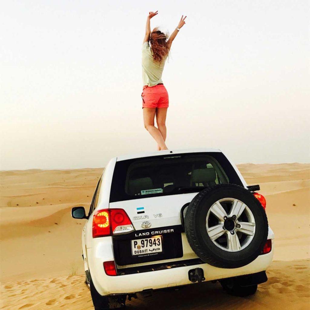 прогулка на джипе в пустыне