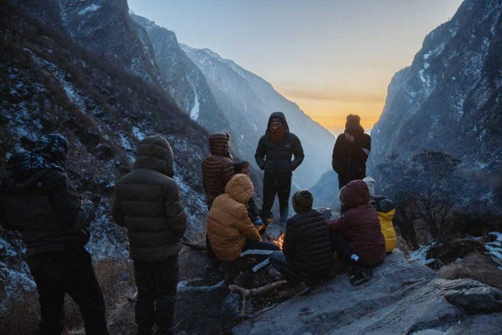 вечерний лагерь на эвересте