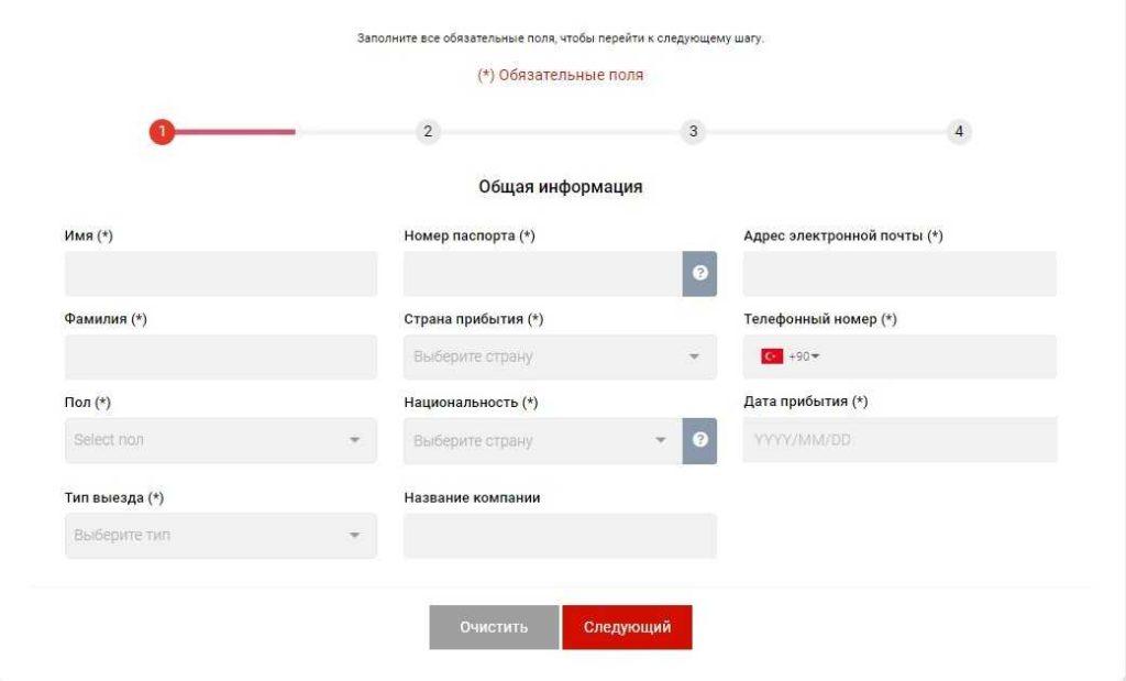 Турция с 15 марта вводит обязательные электронные анкеты