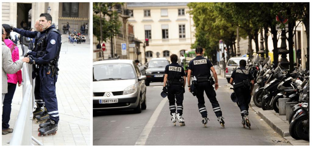 полиция на роликах в париже